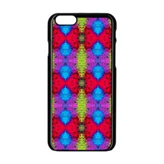 Colorful Painting Goa Pattern Apple Iphone 6/6s Black Enamel Case by Costasonlineshop