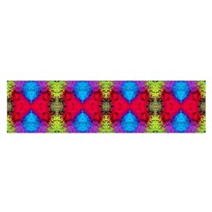 Colorful Painting Goa Pattern Satin Scarf (oblong) by Costasonlineshop