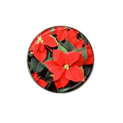 Poinsettia Hat Clip Ball Marker by trendistuff