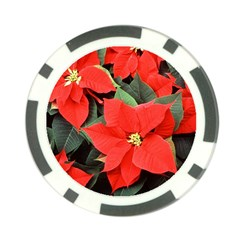 Poinsettia Poker Chip Card Guards by trendistuff