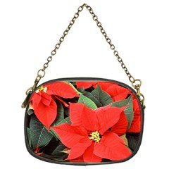Poinsettia Chain Purses (one Side)  by trendistuff