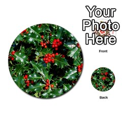 Holly 2 Multi Purpose Cards (round)  by trendistuff