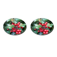 Holly 1 Cufflinks (oval) by trendistuff