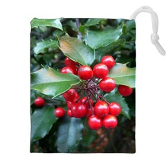 Holly 1 Drawstring Pouches (xxl) by trendistuff