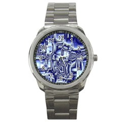 Reflective Illusion 01 Sport Metal Watches by MoreColorsinLife