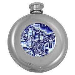 Reflective Illusion 01 Round Hip Flask (5 Oz) by MoreColorsinLife