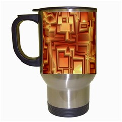 Reflective Illusion 02 Travel Mugs (white) by MoreColorsinLife