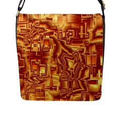 Reflective Illusion 02 Flap Messenger Bag (l)  by MoreColorsinLife