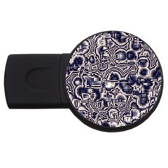 Reflective Illusion 04 Usb Flash Drive Round (4 Gb)  by MoreColorsinLife