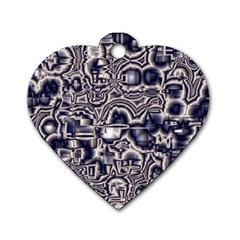 Reflective Illusion 04 Dog Tag Heart (one Side) by MoreColorsinLife