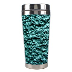 Green Metallic Background, Stainless Steel Travel Tumblers by Costasonlineshop
