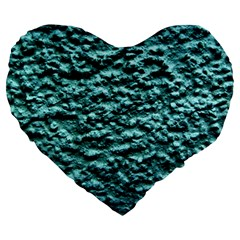 Green Metallic Background, Large 19  Premium Flano Heart Shape Cushions
