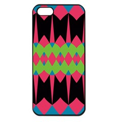 Rhombus And Other Shapes Pattern			apple Iphone 5 Seamless Case (black) by LalyLauraFLM