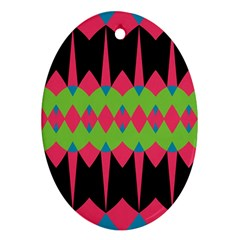 Rhombus And Other Shapes Pattern			ornament (oval) by LalyLauraFLM