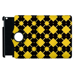 Connected Rhombus Pattern			apple Ipad 2 Flip 360 Case by LalyLauraFLM