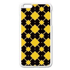 Connected Rhombus Pattern			apple Iphone 6 Plus/6s Plus Enamel White Case by LalyLauraFLM