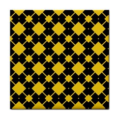 Connected Rhombus Pattern			tile Coaster by LalyLauraFLM