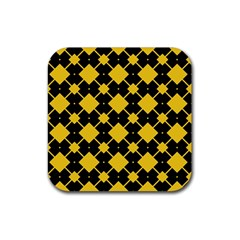 Connected Rhombus Pattern			rubber Square Coaster (4 Pack by LalyLauraFLM
