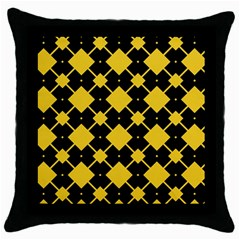 Connected Rhombus Pattern			throw Pillow Case (black) by LalyLauraFLM