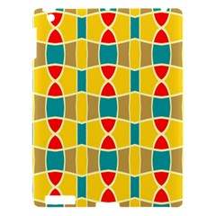 Colorful Chains Pattern			apple Ipad 3/4 Hardshell Case by LalyLauraFLM