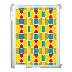 Colorful Chains Pattern			apple Ipad 3/4 Case (white) by LalyLauraFLM