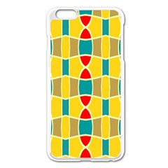 Colorful Chains Pattern			apple Iphone 6 Plus/6s Plus Enamel White Case by LalyLauraFLM