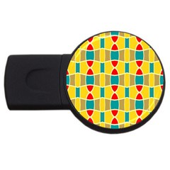 Colorful Chains Pattern			usb Flash Drive Round (2 Gb) by LalyLauraFLM