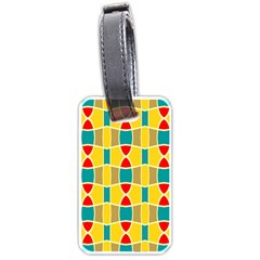 Colorful Chains Pattern			luggage Tag (one Side) by LalyLauraFLM