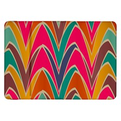 Bended Shapes In Retro Colors			samsung Galaxy Tab 8 9  P7300 Flip Case by LalyLauraFLM
