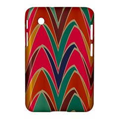 Bended Shapes In Retro Colors			samsung Galaxy Tab 2 (7 ) P3100 Hardshell Case by LalyLauraFLM
