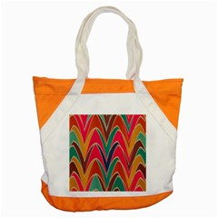 Bended Shapes In Retro Colors			accent Tote Bag by LalyLauraFLM