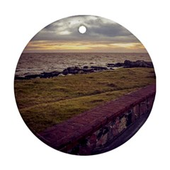 Playa Verde Coast In Montevideo Uruguay Ornament (round)  by dflcprints