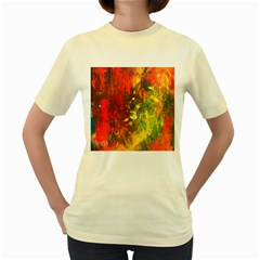 Wild Women s Yellow T-shirt by timelessartoncanvas