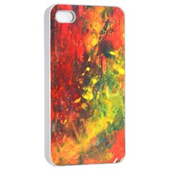 Wild Apple Iphone 4/4s Seamless Case (white) by timelessartoncanvas
