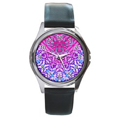 Ethnic Tribal Pattern G327 Round Metal Watches by MedusArt