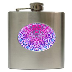 Ethnic Tribal Pattern G327 Hip Flask (6 Oz) by MedusArt