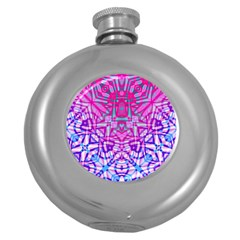 Ethnic Tribal Pattern G327 Round Hip Flask (5 Oz) by MedusArt