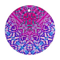 Ethnic Tribal Pattern G327 Round Ornament (two Sides)  by MedusArt