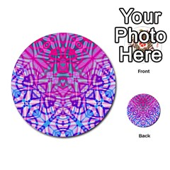 Ethnic Tribal Pattern G327 Multi Purpose Cards (round)  by MedusArt