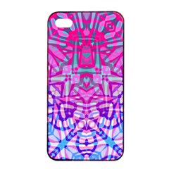 Ethnic Tribal Pattern G327 Apple Iphone 4/4s Seamless Case (black) by MedusArt