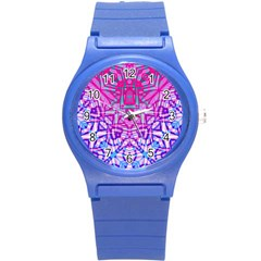 Ethnic Tribal Pattern G327 Round Plastic Sport Watch (s) by MedusArt