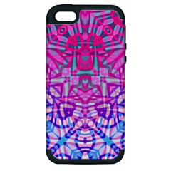 Ethnic Tribal Pattern G327 Apple Iphone 5 Hardshell Case (pc+silicone) by MedusArt