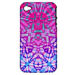 Ethnic Tribal Pattern G327 Apple Iphone 4/4s Hardshell Case (pc+silicone) by MedusArt