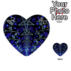 Christmas Stars Playing Cards 54 (heart)