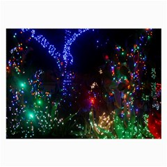 Christmas Lights 2 Large Glasses Cloth (2 Side) by trendistuff