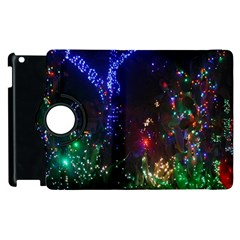 Christmas Lights 2 Apple Ipad 3/4 Flip 360 Case by trendistuff
