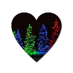 Christmas Lights 1 Heart Magnet by trendistuff