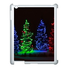 Christmas Lights 1 Apple Ipad 3/4 Case (white) by trendistuff