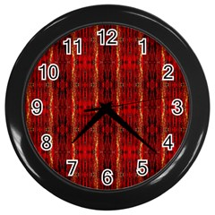 Red Gold, Old Oriental Pattern Wall Clocks (black) by Costasonlineshop