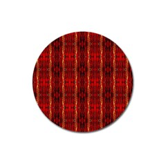 Red Gold, Old Oriental Pattern Magnet 3  (round) by Costasonlineshop